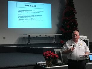 Chief Graham making his presentation at the Public Information Meeting held on Thursday, January 5th, 2017.